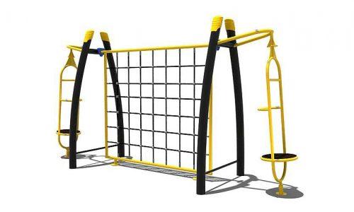 De Luton is een klimtoestel met 2x een draai-element aan de zijkant
