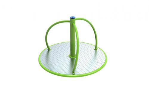 Groen rond draaitoestel - Draaitoestellen - Speeltoestellen - LuduQ speeltoestellen