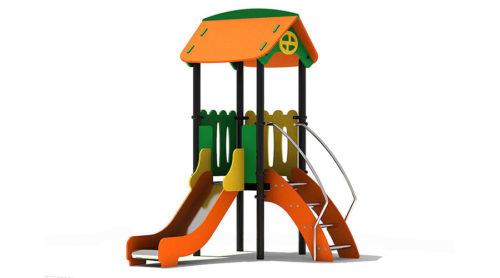 Speelhuisje met glijbaan en trap - XYZ Fantasia - Speeltoestellen - LuduQ speeltoestellen