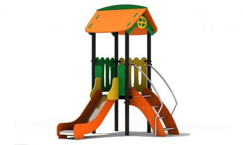 De Praag modern vorm klimtoestel metaal RVS glijbaan - XYZ Fantasia - Speeltoestellen - LuduQ speeltoestellen