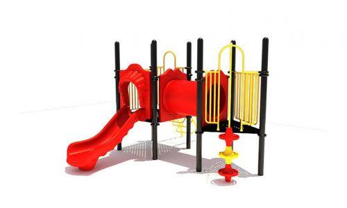 Joure is een speeltoestel van metaal met glijbaan- Klimtoestellen met glijbaan - Speeltoestellen - LuduQ speeltoestellen