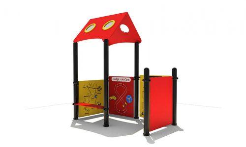 Hamar modern vorm gegeven speelhuis met een bankje - XYZ Fantasia - Speeltoestellen - LuduQ speeltoestellen