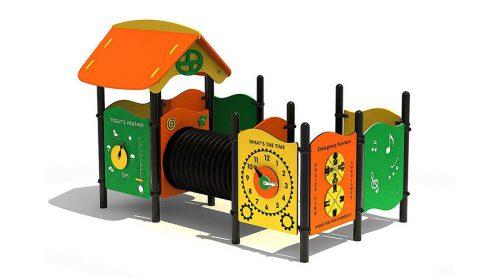 Kleurrijk speelhuisje met educatieve wanden - XYZ Fantasia - Speeltoestellen - LuduQ speeltoestellen