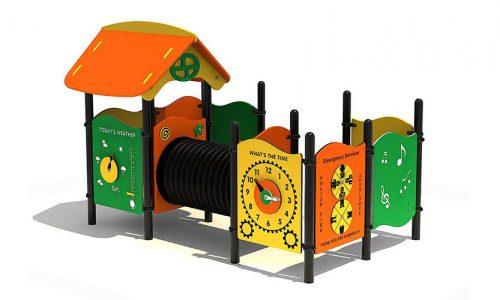 Kongsberg is een speelhuisje met kruipbuis-XYZ Fantasia - Speeltoestellen - LuduQ speeltoestellen