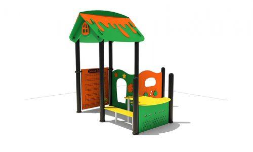 Lillestrom is een modern vorm gegeven speelhuis met bankjes - XYZ Fantasia - Speeltoestellen - LuduQ speeltoestellen