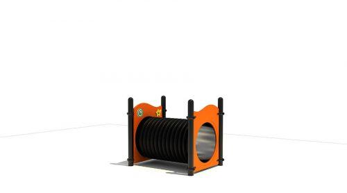Tunnel met oranje panelen - XYZ Fantasia - Speeltoestellen - LuduQ speeltoestellen