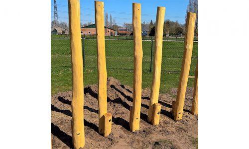 Houten palen om te balanceren - Robinia houten speeltoestellen - LuduQ speeltoestellen