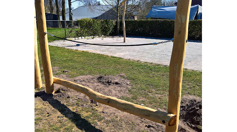 Houten Robinia balanceren en klimmen speeloplossing