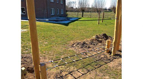Houten touwbrug - Robinia houten speeltoestellen - LuduQ speeltoestellen