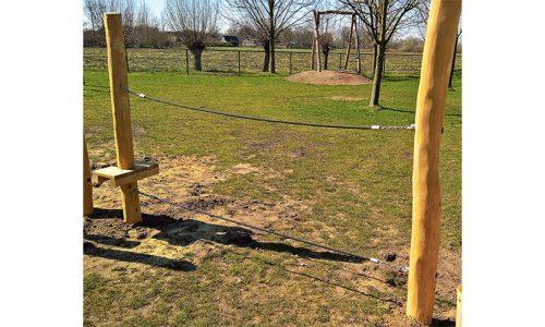 Houten balanceer lijn van twee touwen - Robinia houten speeltoestellen - LuduQ speeltoestellen