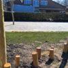 Houten balanceer stronken - Robinia houten speeltoestellen - LuduQ speeltoestellen