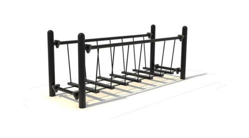 Balanceer bruggetje zwart - Balanceren - Speeltoestellen - LuduQ speeltoestellen