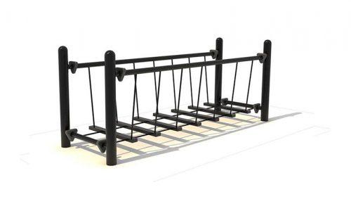 Mandaly evenwichtsbrug strakke band rustig schommeleffect - evenwichtsbalk- Balanceren - Speeltoestel - LuduQ speeltoestellen