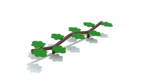 Davao metalen evenwichtsbalk met stappen - Balanceren - Speeltoestel - LuduQ speeltoestellen