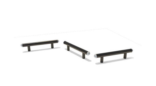 Drie zwarte balanceer balken - Balanceren - Speeltoestellen - LuduQ speeltoestellen