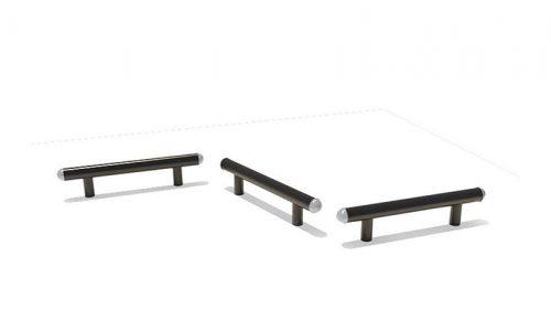 Sapporo is een set van 3 metalen evenwichtsbalk - Balanceren - Speeltoestel - LuduQ speeltoestellen