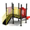 Klimtoestel met plateau en glijbaan - Klimtoestellen met glijbaan - Speeltoestellen - LuduQ speeltoestellen
