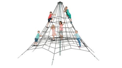 Klimnet met spelende kinderen - Ruimtenet - Speeltoestellen - LuduQ speeltoestellen