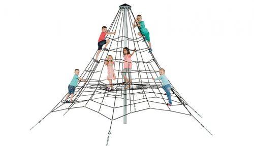 Quebec klimnet met spelende kinderen - Ruimtenet - Speeltoestellen - LuduQ speeltoestellen