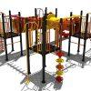 Klimtoestel met tunnel en hangelementen - Klimtoestellen met glijbaan - Speeltoestellen - LuduQ speeltoestellen