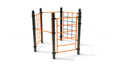 Bristol speeltoestel van metaal met klimsporten - Speeltoestellen - LuduQ speeltoestellen