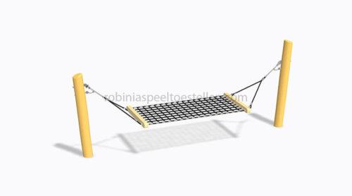 Digitaal model houten hangmat - Houten schommels - Robinia houten speeltoestellen - LuduQ speeltoestellen