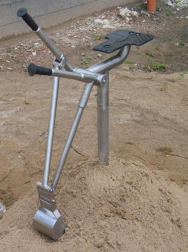 RVS Graafmachine zandbak