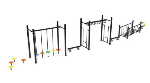 Balanceer parcours met verschillende onderdelen - Balanceren - Speeltoestellen - LuduQ speeltoestellen