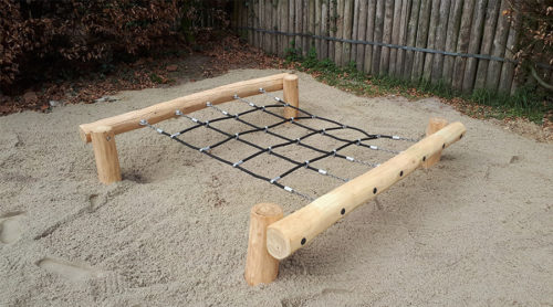 Klimtoestel van robinia hout - Houten klimtoestellen - Robinia houten speeltoestellen - LuduQ speeltoestellen