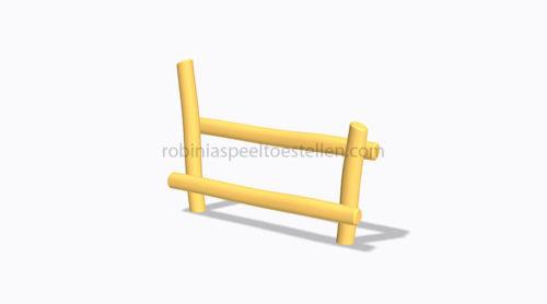 Digitaal model houten klim en balanceertoestel - Klimmen en balanceren - Robinia houten speeltoestellen - LuduQ speeltoestellen