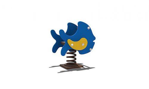 Wipkip blauwe vis - Veer- en wipelementen - Speeltoestellen - LuduQ speeltoestellen