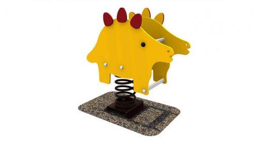 Wipkip dino - Veer- en wipelementen - Speeltoestellen - LuduQ speeltoestellen
