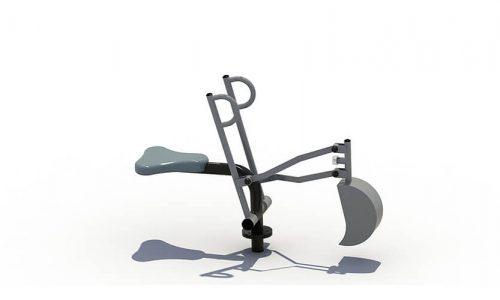 Roestvrij stalen speel graafmachine voor in het zand - XYZ Fantasia - Speeltoestellen - LuduQ speeltoestellen