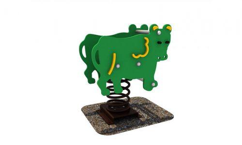 Wipkip koe - Veer- en wipelementen - Speeltoestellen - LuduQ speeltoestellen