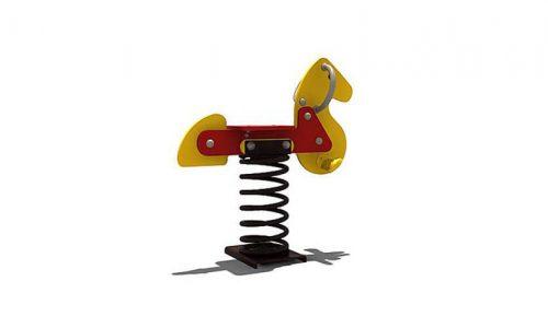 wipkip paard - Veer- en wipelementen - Speeltoestellen - LuduQ speeltoestellen
