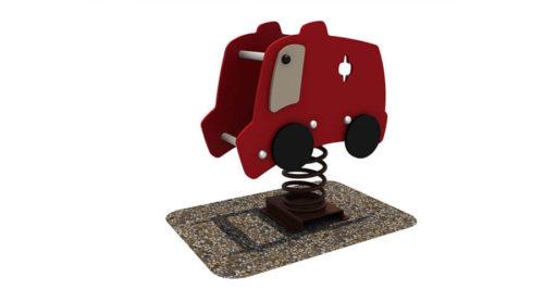 Wipkip brandweerwagen - Veer- en wipelementen - Speeltoestellen - LuduQ speeltoestellen