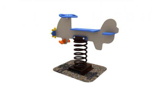 Wipkip vliegtuig - Veer- en wipelementen - Speeltoestellen - LuduQ speeltoestellen