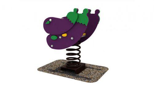 Wipkip aubergine - Veer- en wipelementen - Speeltoestellen - LuduQ speeltoestellen