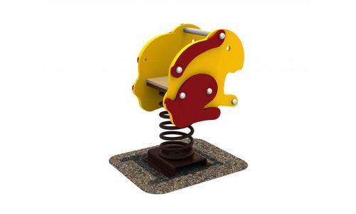 Wipkip konijn - Veer- en wipelementen - Speeltoestellen - LuduQ speeltoestellen