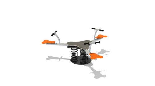 Grijs driepersoons veerelement - Veer- en wipelementen - Speeltoestellen - LuduQ speeltoestellen