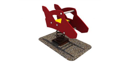 Wipkip raceauto - Veer- en wipelementen - Speeltoestellen - LuduQ speeltoestellen