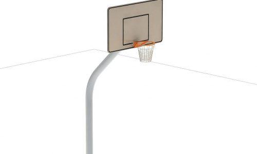 Voorkant ijzeren basketbal paal met bord en ring - Balsporten - Sport en spel - LuduQ speeltoestellen