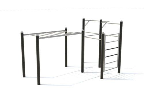 Uithoudingsvermogen en krachttraining parcours - Calisthenics - Sport en spel - LuduQ speeltoestellen