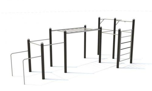 Hang en klim parcours voor krachttraining - Calisthenics - Sport en spel - LuduQ speeltoestellen