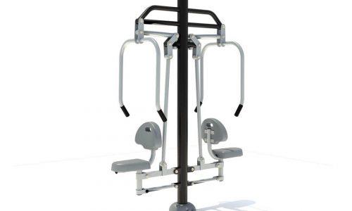 Dubbel chestpress fitnessapparaat - Fitness - Sport en spel - LuduQ speeltoestellen