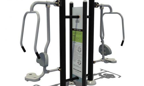 Dubbel chestpress fitness apparaat met instructies - Fitness - Sport en spel - LuduQ speeltoestellen