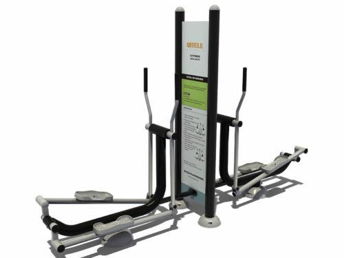 Dubbele crosstrainer met instructiebord - Fitness - Sport en spel - LuduQ speeltoestellen