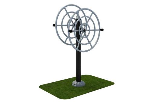 Dubbel roestvrij stalen flexwheel fitness apparaat - Fitness - Sport en spel - LuduQ speeltoestellen