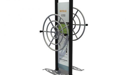 Dubbel flex wheel met instructiebord - Fitness - Sport en spel - LuduQ speeltoestellen