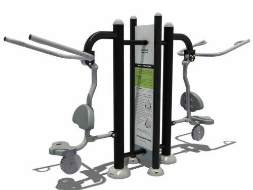 Dubbel at pull down fitness apparaat met instructies - Fitness - Sport en spel - LuduQ speeltoestellen